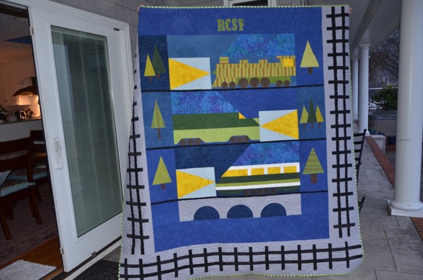 Liz Train Quilt for Suz (5)