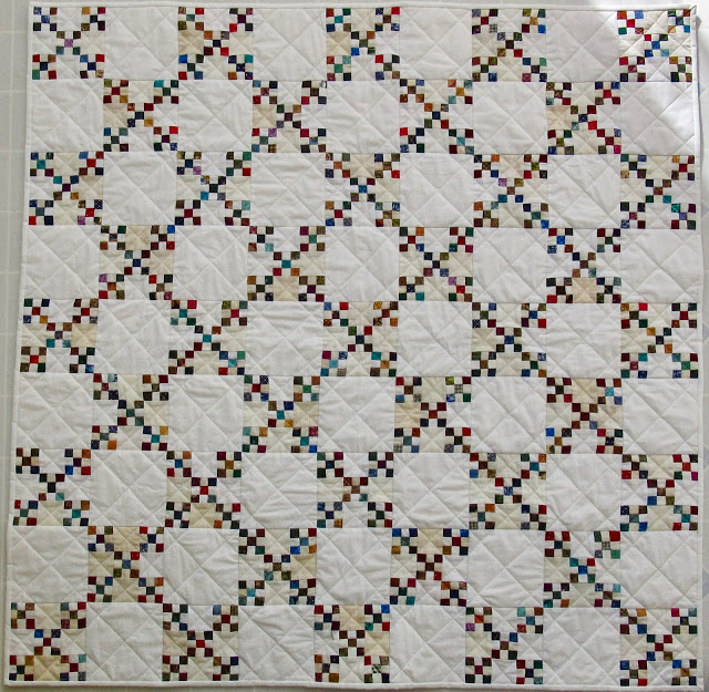 911 Scrap rescue Kathy's Quilt double nine patch 1845 1 inch sqyares 49.5 inch square april 2018