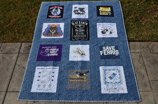 Jack's T Shirt quilt for Renee (2)